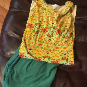 Lularoe leggings and Irma set